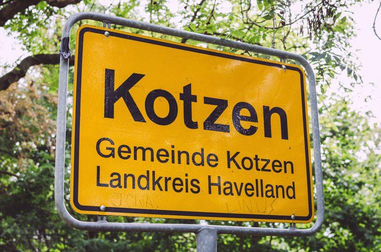 Ortseingangsschild von Busendorf (Beelitz, Brandenburg)