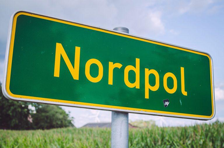 Ortsschild von Nordpol (Wiefelstede, Niedersachsen)
