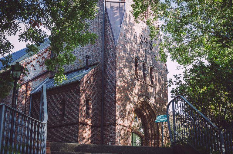 Vorderansicht der Kirche in Welt (Nordfriesland, Schleswig-Holstein)