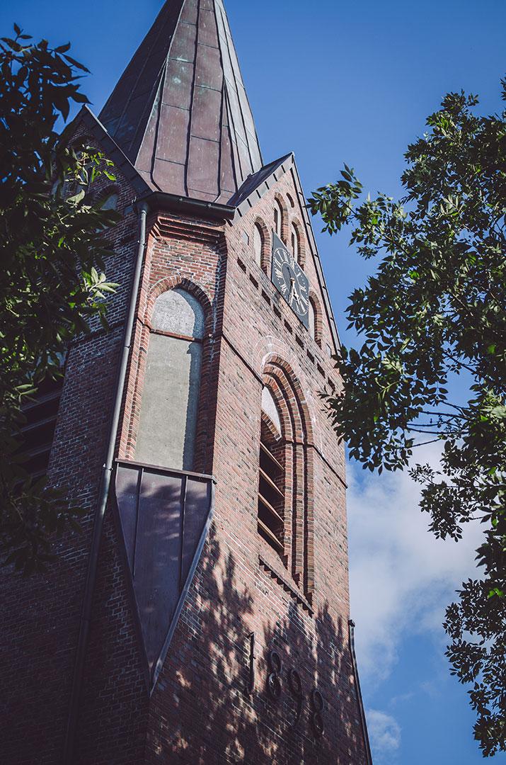 Kirchturm in Welt (Nordfriesland, Schleswig-Holstein)