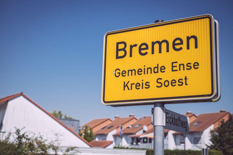 Ortsschild von Bremen (Ense, Nordrhein-Westfalen)