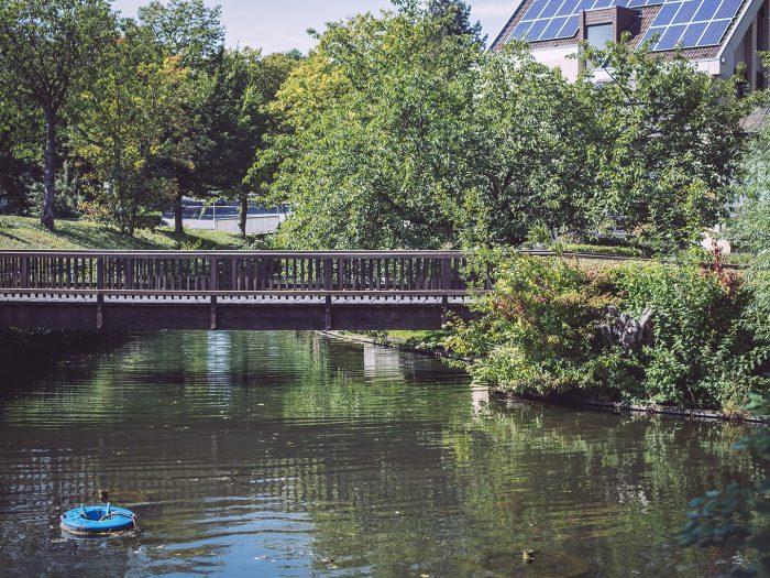 Kleine Brücke über Fluss in Bremen (Ense, Nordrhein-Westfalen)