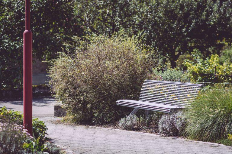 Sitzbank an einem Fußweg in Bremen (Hohentengen, Baden-Württemberg)