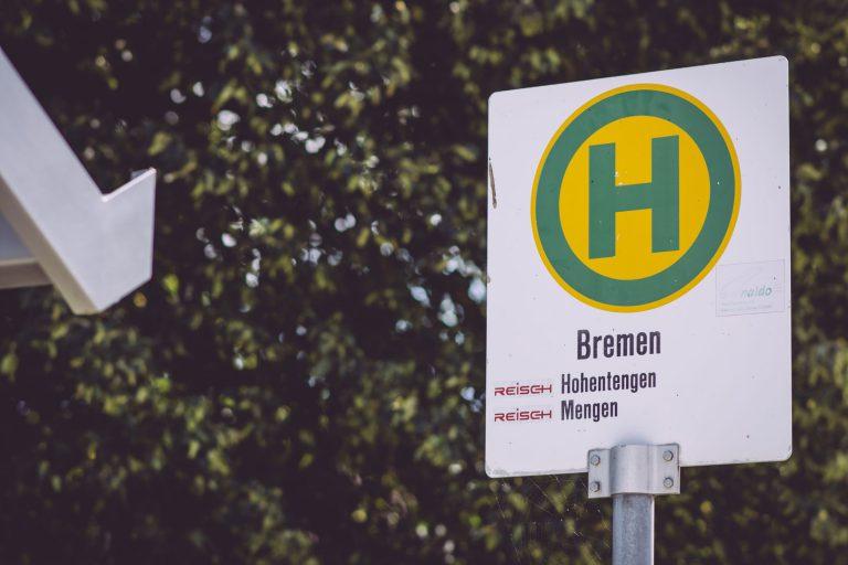 Bushaltestellenschild von Bremen (Hohentengen, Baden-Württemberg)