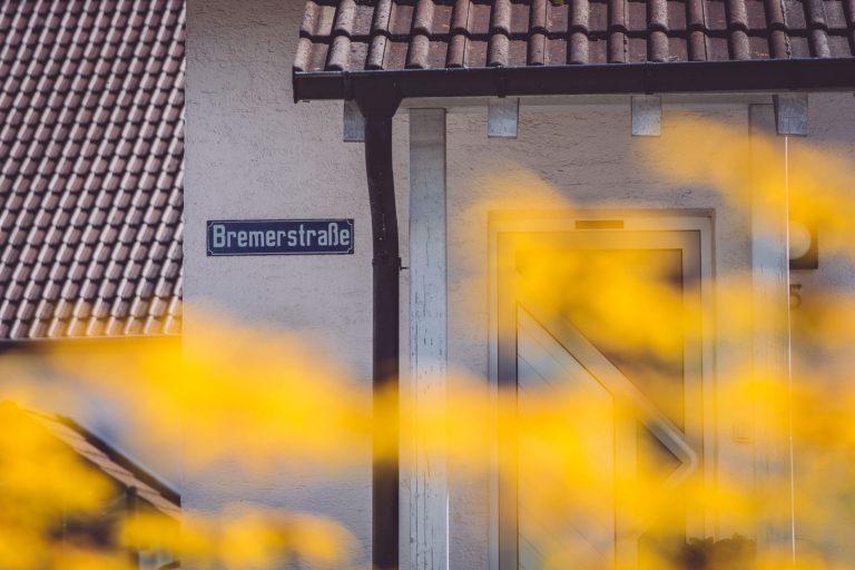Haus mit Straßenname in Bremen (Hohentengen, Baden-Württemberg)