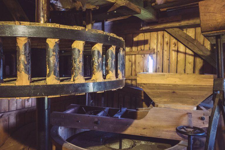 Innenleben der Paltrockmühle in Asel (Harsum, Niedersachsen)