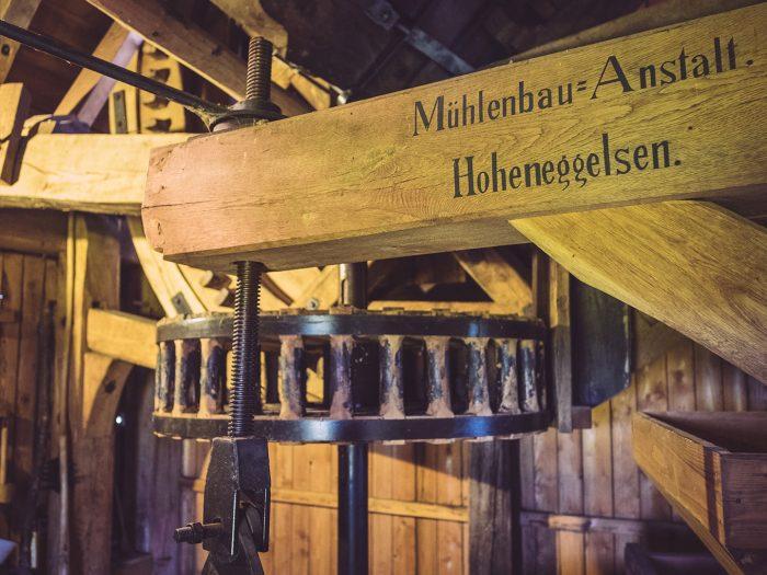 Innenleben der Windmühle in Asel (Harsum, Niedersachsen)