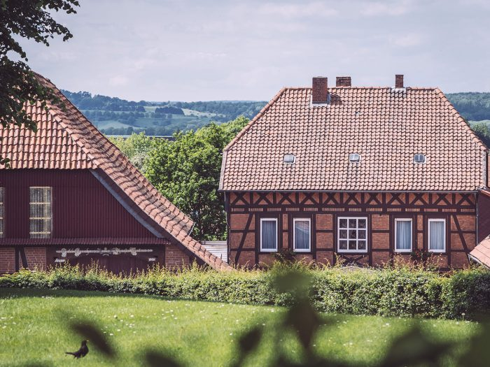 Backsteinhäuser in Asel (Harsum, Niedersachsen)