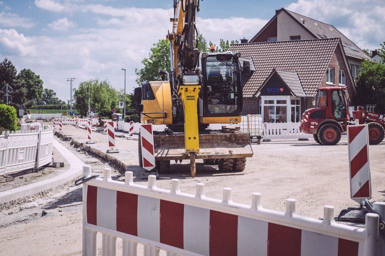 Baustelle in Asel (Harsum, Niedersachsen)
