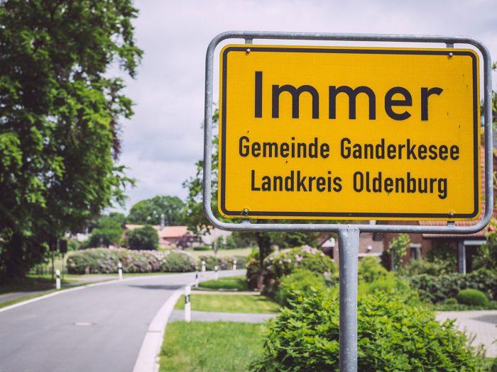 Ortsschild Immer (Ganderkesee, Niedersachsen)