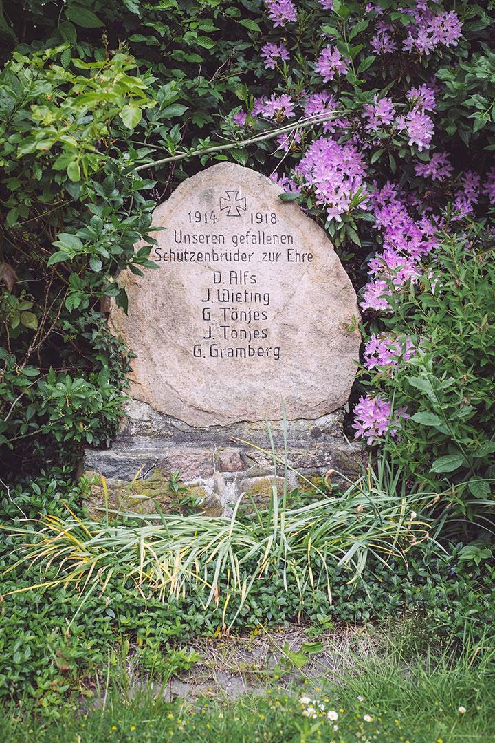 Gedenkstein in Immer (Ganderkesee, Niedersachsen)