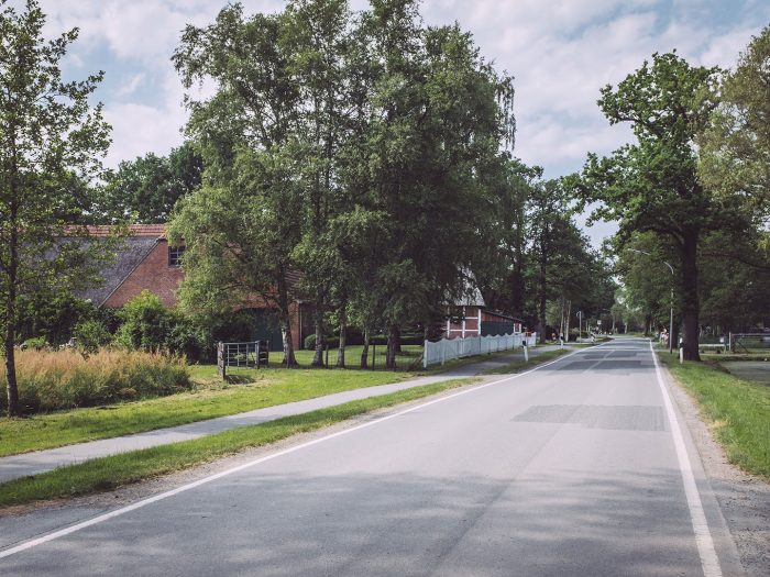 Straße in Harrierwurp (Brake, Niedersachsen)