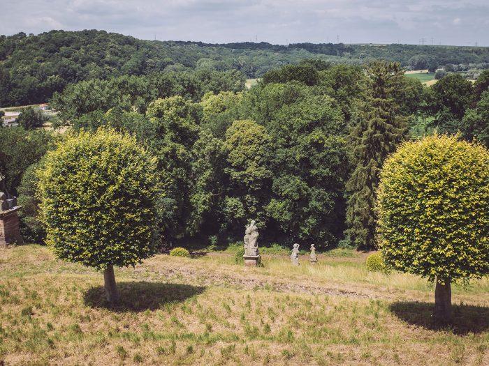 Gartenanlage Schloss Burgscheidungen (Burgenlandkreis, Sachsen-Anhalt)