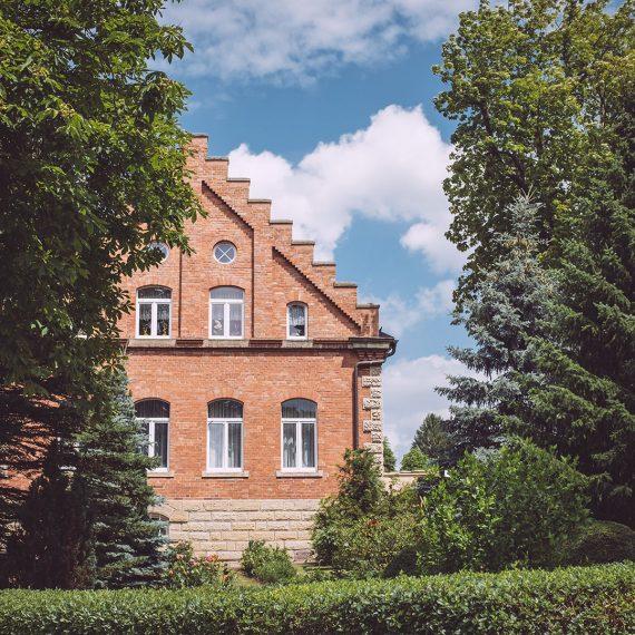 Backsteinhaus in Burgscheidungen (Burgenlandkreis, Sachsen-Anhalt)