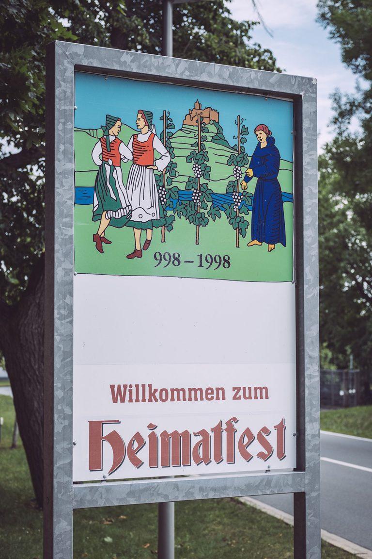 Heimatfest Schild in Kirchscheidungen (Burgenlandkreis, Sachsen-Anhalt)