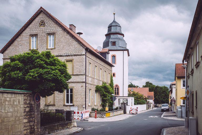 Straße in Mainsondheim (Dettelbach, Bayern)