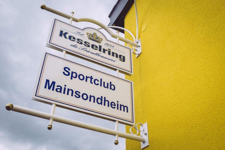 Schild in Mainsondheim (Dettelbach, Bayern)