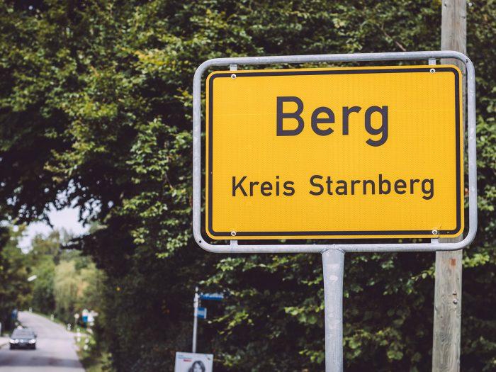 Ortsschild Berg (Starnberg, Bayern)