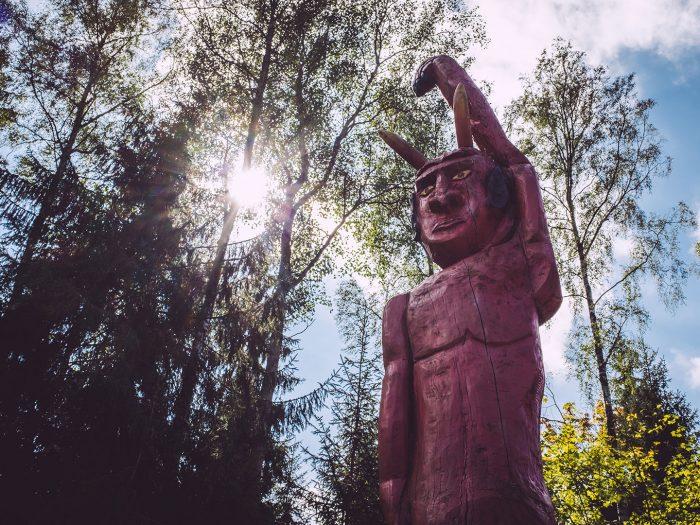 Teufelsstatue in Hölle (Naila, Bayern)