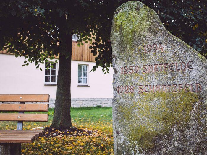 Gedenkstein in Schmatzfeld (Hordharz, Sachsen-Anhalt)