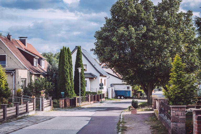 Wohngegend in Teicha (Petersberg, Sachsen-Anhalt)