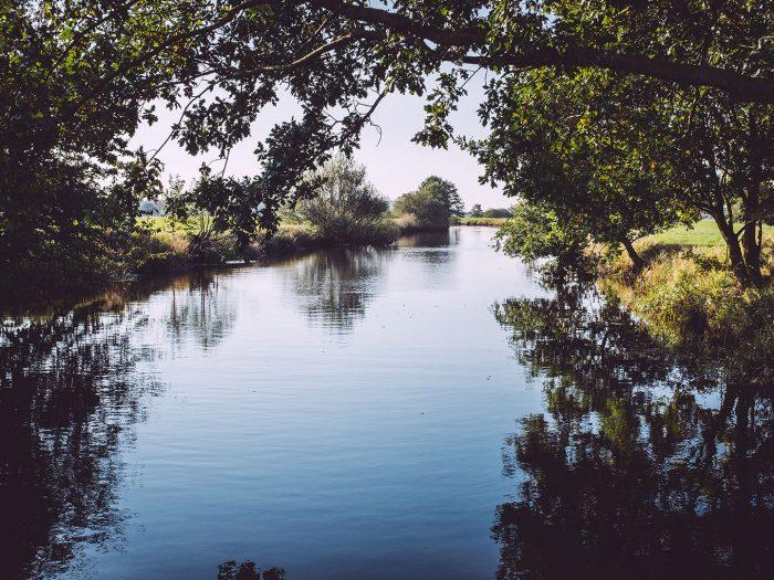 Fluss Lune in Düring (Loxstedt, Cuxhaven, Niedersachsen)