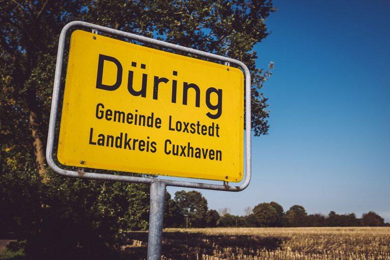 Ortsschild Düring (Loxstedt, Cuxhaven, Niedersachsen)