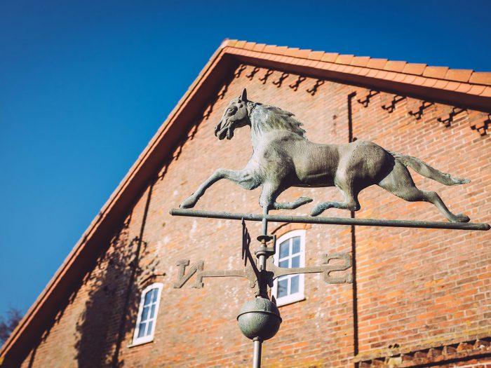 Pferdefigur in Düring (Loxstedt, Cuxhaven, Niedersachsen)
