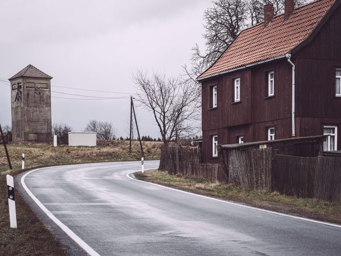 Kurve in Bärenrode (Güntersberge, Harz, Sachsen-Anhalt)