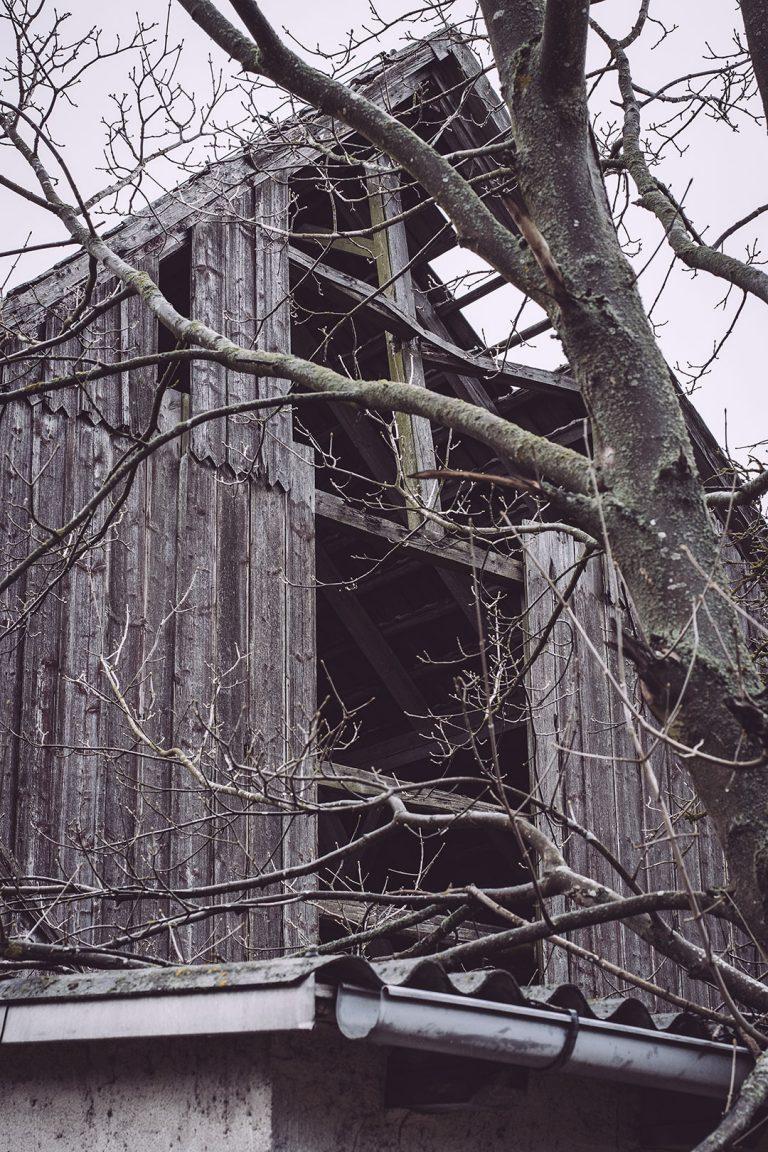 Holzfassade in Bärenrode (Güntersberge, Harz, Sachsen-Anhalt)