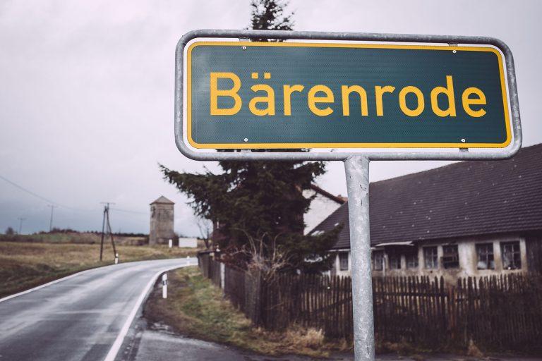 Ortsschild Bärenrode (Güntersberge, Harz, Sachsen-Anhalt)