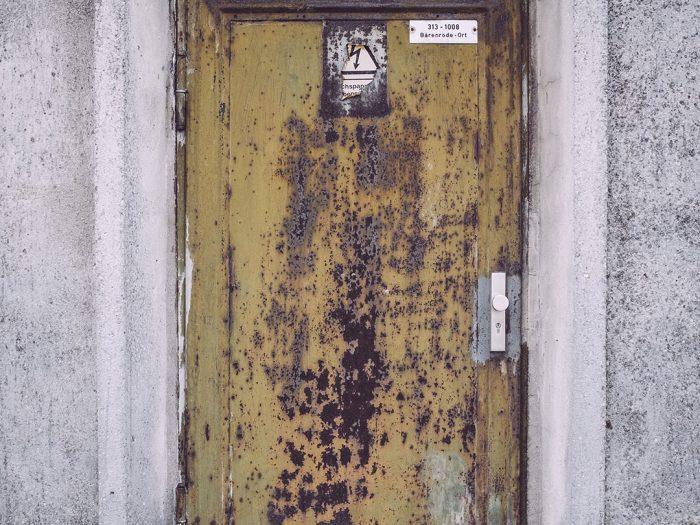 Rostige Tür in Bärenrode (Güntersberge, Harz, Sachsen-Anhalt)