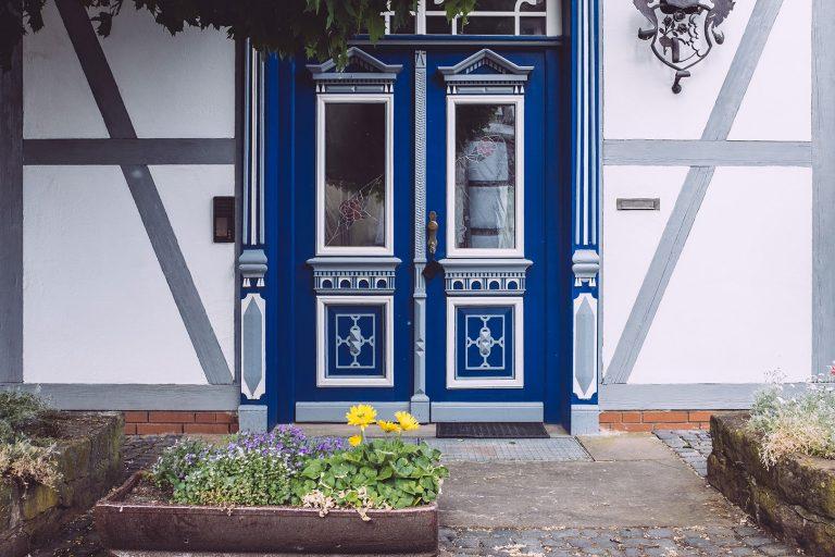 Haustür in Drüber (Northeim, Niedersachsen)