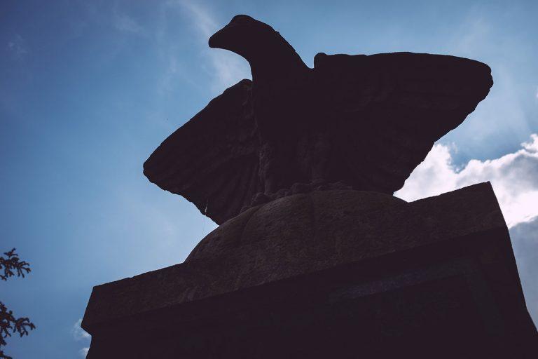 Ehrenmal Steinfigur in Drüber (Northeim, Niedersachsen)