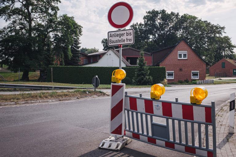 Baustelle in Kleinenkneten (Wildeshausen, Niedersachsen)