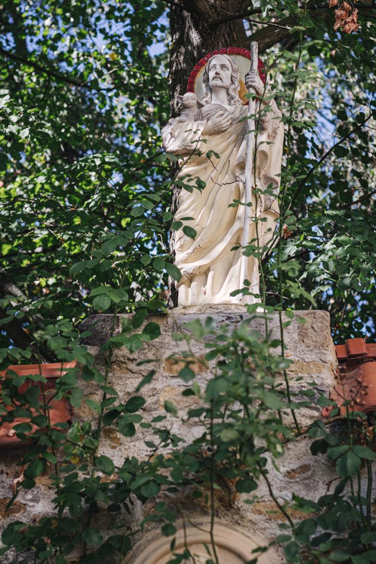 Steinfigur in Werningshausen (Sömmerda, Thüringen)