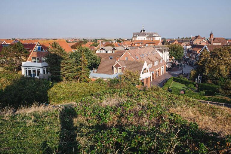 Blick auf die Ortschaft Langeoog (Wittmund, Niedersachsen)